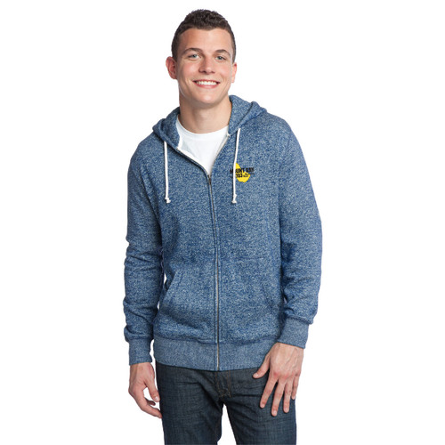 Mount Gay® Rum Marled Fleece Full-Zip Hoodie by District® (Blue)
