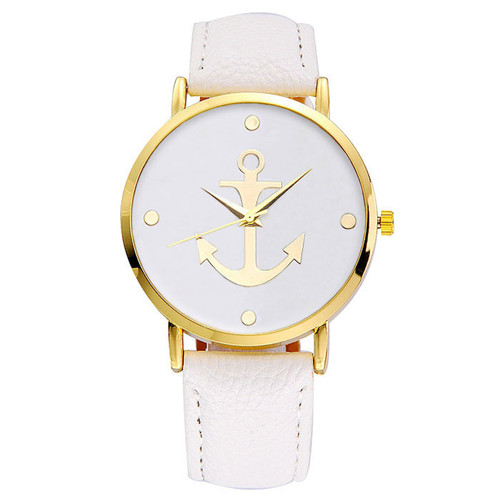 Women's Geneva Anchor Watch (White)