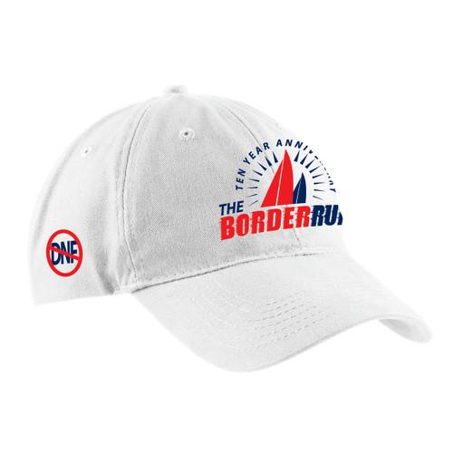 EARLY BIRD SPECIAL! The Border Run 2018  Cotton Sailing Cap (White)