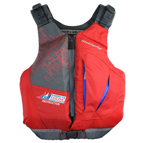 ASA Instructor Adult Life Jacket by Stohlquist (Red)