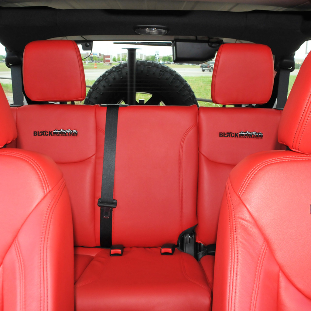 leather seat covers red black mountain jeep. Black Bedroom Furniture Sets. Home Design Ideas