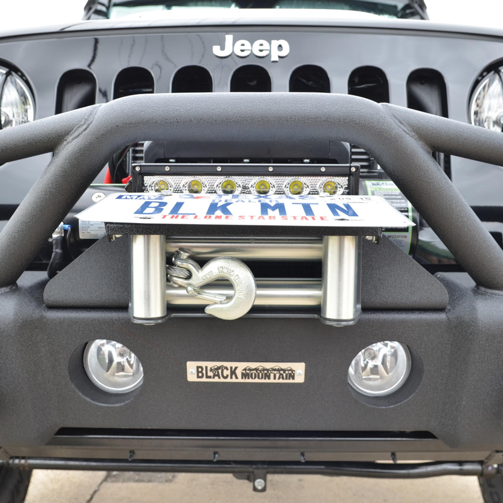 Black Mountain Jeep: Flip-Up License Plate Hinge