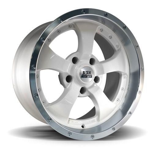 """Two-Tone White 17x9"""" Wheel"""