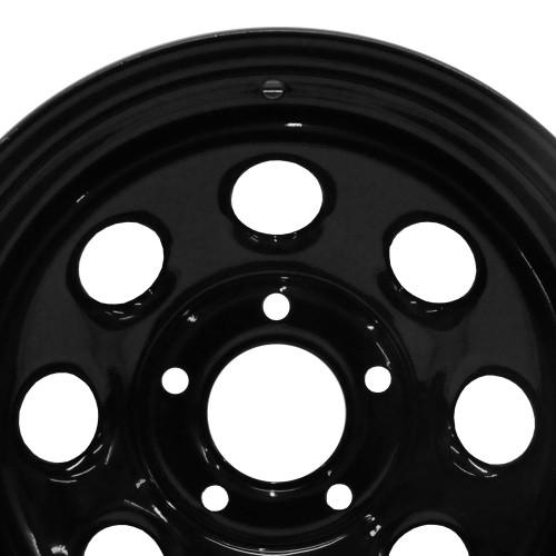 """Black Steel Rock Wheel 16x8"""""""