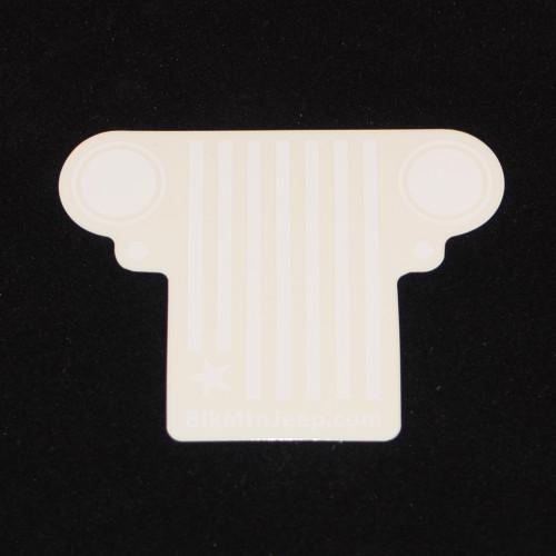 Americana Grill White Die-Cut