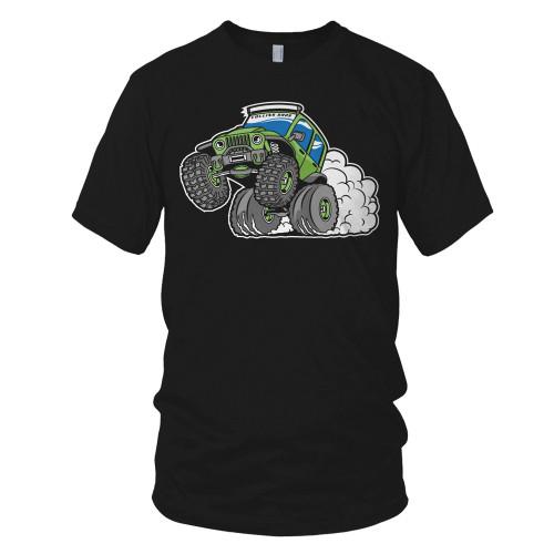Jeep Wheelie Boy's T-Shirt – Black