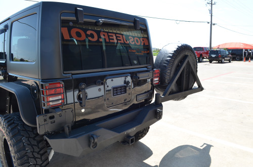 Rear Recovery Bumper with Tire Carrier