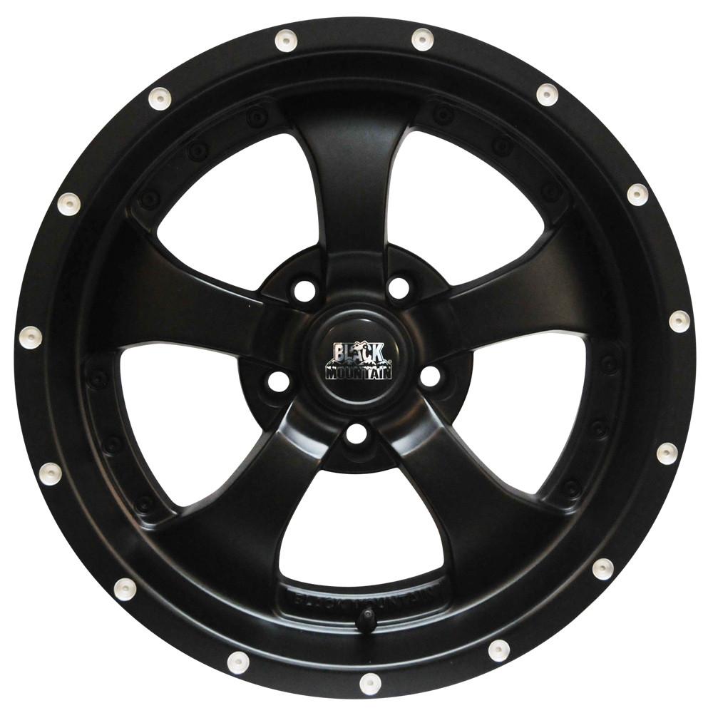 """Black Mountain Jeep: Matte Black 17x9"""" Wheel"""