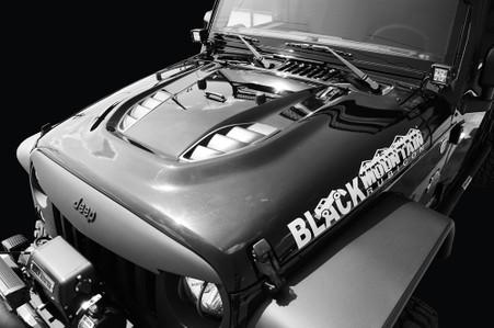 Heat Reduction Hood Black Mountain Jeep
