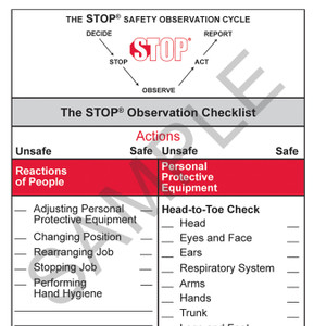 STOP® for Healthcare Observation Checklist