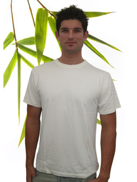 Mens Bamboo and Organic Cotton Tee shirt Natural