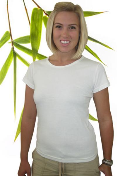 Women's Bamboo organic cotton tee shirt natural