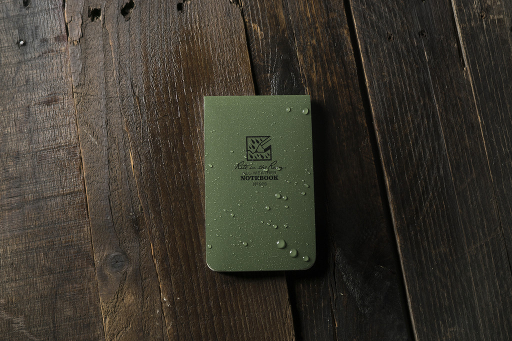 All-Weather Top Bound Green Notebook