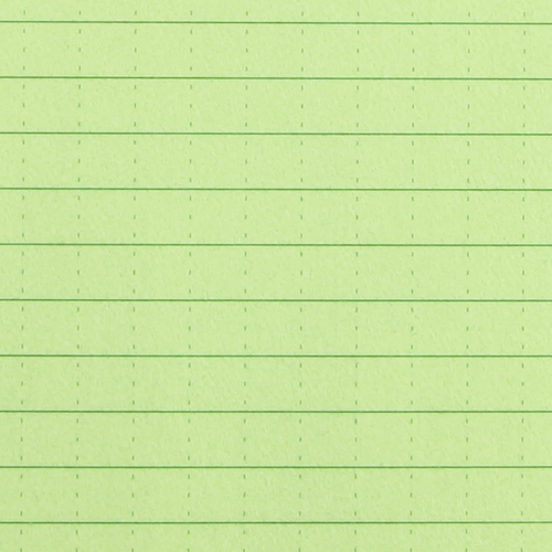 Close-up of green notebook sheets.  Color may vary depending on computer screens.