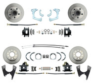 DBK59641012FSB - 1959-1964 Full Size Chevy Complete Front & Rear Disc Brake Conversion Kit w/ Powder Coated Black Calipers