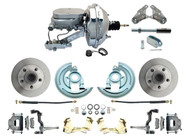 "DBK6472-GM-350 1964-1972 Chevelle, El-Camino 1967-1969 Camaro & 1968-1974 Nova Disc Brake Conversion Kit w/ 11"" Dual Chrome Power Booster Kit"
