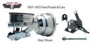 """1957-72 Ford 8"""" Dual Chrome Power Booster & Wilwood Conversion, Cars & Trucks"""