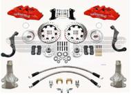 "1967-1969 Camaro Wilwood Disc Brake Kit 2"" Drop Drilled Red Calipers"