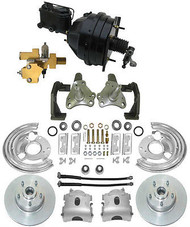 1966-70 Mopar B Body Power Disc Brake Kit w/ OE Bendix Style Power Booster Kit