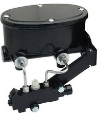 Black Tandem Master Cylinder & Fixed Proportioning Valve Disc Drum
