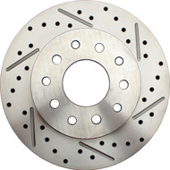 1974-1978 Mustang II Drilled/ Slotted Rear Rotor Drilled for GM/ Ford Stud Pattern (Driver Side)