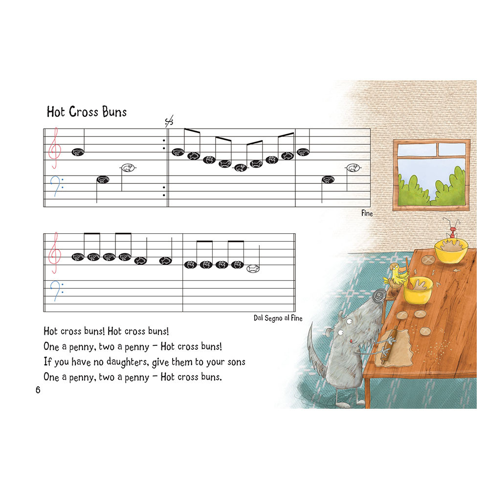 Nursery Rhyme/Famous Melodies (Animal Notes Edition) Page 6