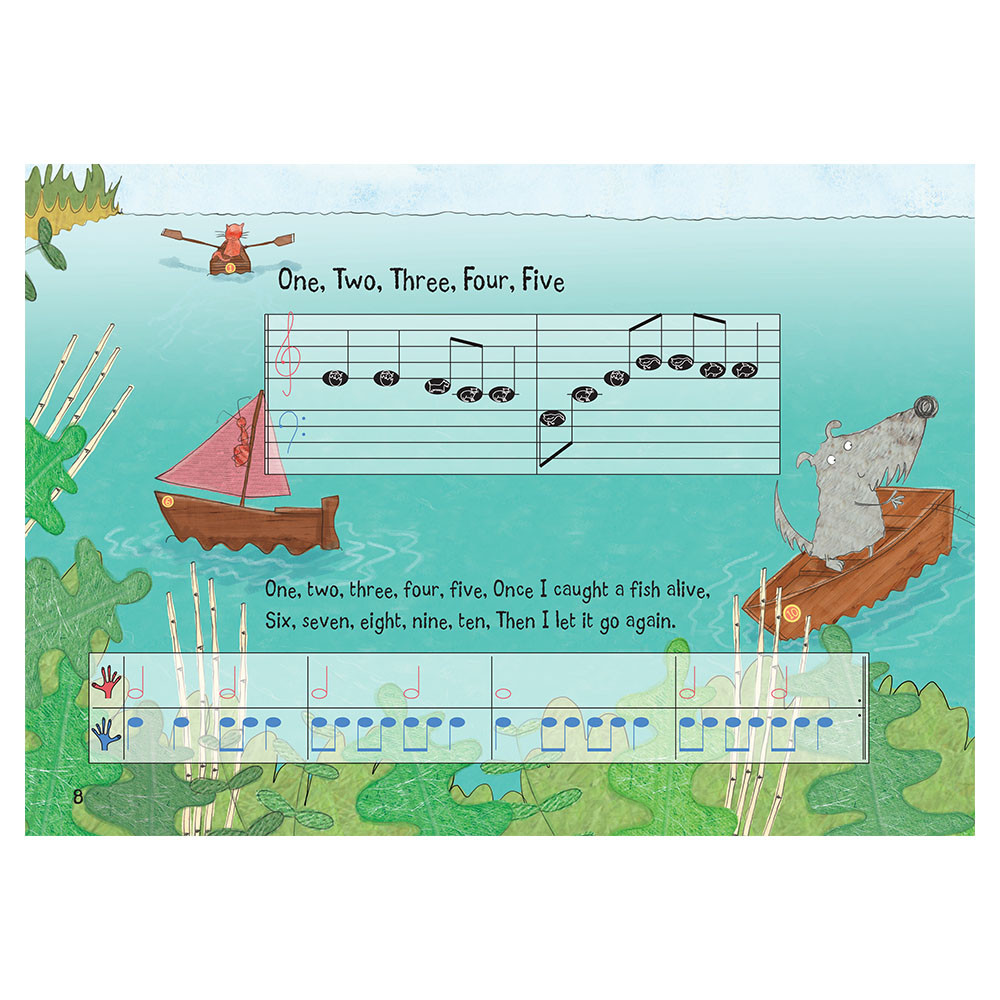 Nursery Rhyme/Famous Melodies (Animal Notes Edition) Page 8