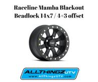 Raceline Mamba Blackout Beadlock 14x7 / 4+3 offset