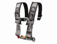 "Pro Armor now offers 4 Point Harnesses. They feature 3"" harnesses with sewn in pads & a water resistant cell phone pocket to hold your iPhone, Droid or MP3 player. The belts also come with a Free LED Flashlight (mesh pocket for light with velcro closure) & adjustable sternum strap. These harnesses are also easy in and easy out due to the fact the shoulder harnesses are sewn to the lap belts so less hardware & hassle for the latch and link system. Sewn together harnesses have passed all SFI testing but are not SFI certified for racing. *Price is per harness.*  3"" Wide Harness with Sewn in Padding H Style Harness for Full Adjustability and Application Fit up Adjustable Lap and Sternum Strap to Accommodate All Sized Riders Water Resistant Cell Phone Pocket/MP3 Player Mesh Pocket with Free LED Flashlight 5 Mounting Points for Ultimate Protection and Security Made from only the Highest Quality Materials Easy to Use Pull Down Hoops"