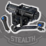 "Whether its on a winding trail, plowing snow or deep in the mud, a reliable winch is the most important accessory a rider can have. Equip your ATV, UTV or SxS with a KFI WINCH and feel confident you can pull yourself out of any situation. This 2500lb ATV Stealth Series winch features Synthetic Cable, Cable Hook Stopper, a dynamic and mechanical braking system, Water Resistant seals to keep the elements out, a standard 4-hole mounting design and a heavy duty all metal turn clutch. It is also backed by a KFI 1-Year Limited Warranty. The KFI SE25 Stealth Winch comes with everything you need other than an ATV model specific winch mount. Everything shown is included along with detailed installation instructions and hardware to mount your winch to a model specific ATV winch mount. ~ 50' Synthetic Cable with 5' protective sheath and end loop ~ Take control of your winch with the included Mini-Rocker Switch that comes with an adjustable bracket to mount it to your ATV's handle bars and allows you to control your winch with the touch of your finger without ever letting go of your handle bars. ~ The included Heavy Duty Electric Contactor protects your ATV's electrical system and switches the power distribution of your winch that is controlled from your switches. ~ The included Cable Hook Stopper with the following benefits: - Eliminates wear and tear on your rollers from the hook with can cause cable wear. - Eliminates hook clatter from going down the trail. - Protects the winch motor and gears from pulling the cable in to far and bottoming out on the rollers. - Keeps tension on the hook to eliminate the cable becoming loose. - Also has slits designed in it to work as an anti-kick back for the cable if your cable was to snap. - Looks great. - Once you have one, everyone else that you ride, with will want one :)  Recommended Battery : 12 Amp/hour minimum Winch Weight: 22.7 lbs. (complete kit) Mounting Bolt Pattern: 3.00"" x 4.875"" (4-Hole) Mount Plate: Fairlead Mount Only (A Model Specific Mount is necessary for your make and model ATV) Winch Dimensions: 12.67"" L x 4.06"" D x 4.2"" H Control: Deluxe Handlebar-Mounted Mini-Rocker Control Switch Fairlead: Multi-directional Roller Synthetic Cable: 3/16"" (D) x 50' (L) Smoke color Drum Size: 1.5"" (D) x 3.15"" (L) Clutch (free spooling): All Metal Cam Activated Freespool Brake: Dynamic and Mechanical Gear/Transmission: All-metal Planetary Gear Drive Gear Ratio: 171:1 Motor: 12V DC, 1.2 hp Permanent Magnet Rated Line Pull: 2500 lbs. Model: SE25 ATV Series"