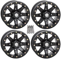 STI HD9 Series Beadlock Wheel 14X7 4/156 (5+2) offset (BLACK) SET OF 4