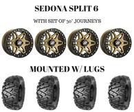 "PACKAGE DEAL -SEDONA SPLIT 6 BRONZE EDITION 14X7 W/30"" JOURNEYS"