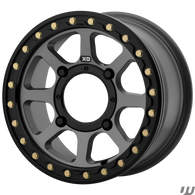 GREY KMC ADDICT 2 BEADLOCK UTV WHEELS/RIMS 14x7 5+2
