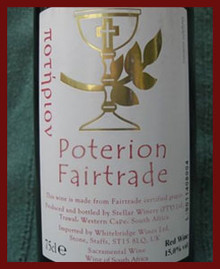 Fair Trade Amber  Altar Wine Cases of 12 Bottles