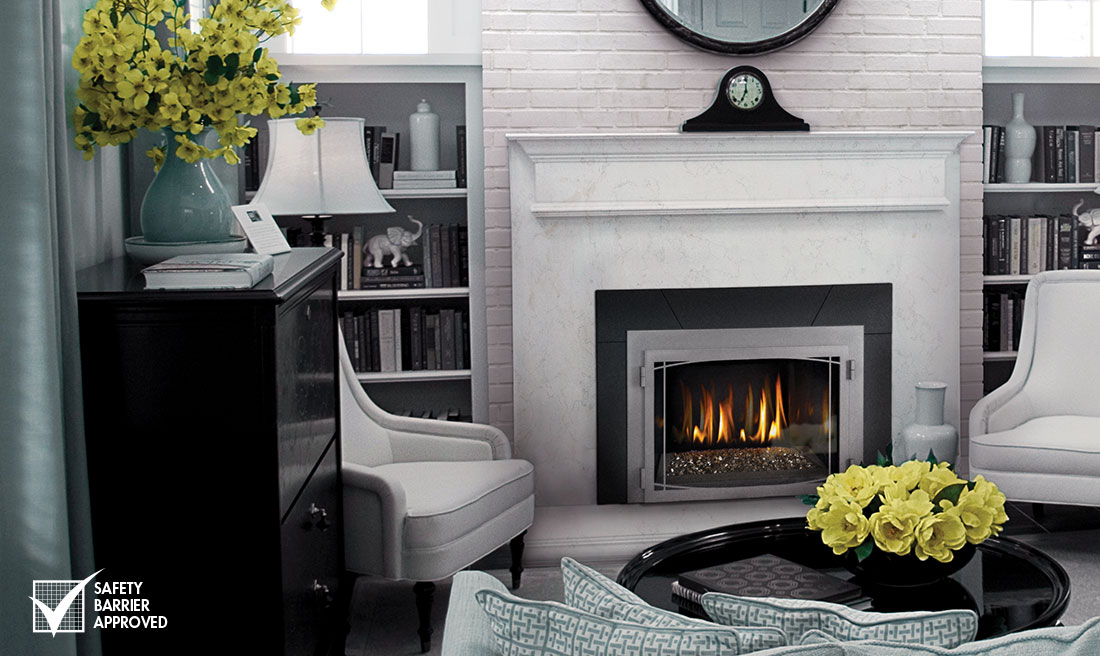 Napoleon Infrared Gas Fireplace Insert with Glass Burner - IR3G - NAPOLEON INFRARED IR3G GAS FIREPLACE INSERT