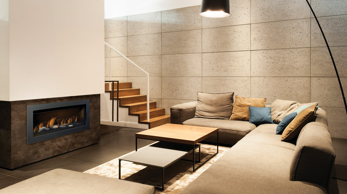 The Bennett 45 – Direct Vent Linear Gas Fireplace - Sierra Flame - The Bennett 45 €� Direct Vent Linear Gas Fireplace