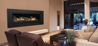 Aura Gas Fireplace With Black Textured Surround