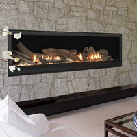"Majestic Aura 70"" Linear Gas Fireplace"