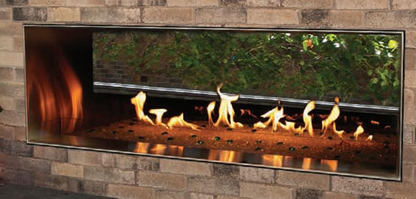 Carol Rose See Thru Linear Outdoor Gas Fireplace