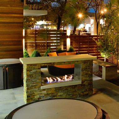 Firegear key west 42 outdoor see thru gas fireplace for Fireplace see through