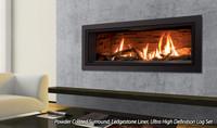 Powder Coated Surround, Ledgestone Liner, Ultra High Definition Log Set
