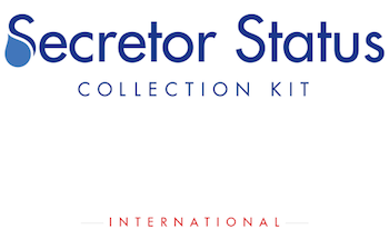 DNA Secretor Status Collection Kit - Interantional (Non USA)