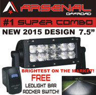 NEW 2017 36W SUPER COMBO BEAM 2,500 Lumen, Off Road, Polaris RZR, UTV, Raptor, Jeep, Bumper Rock, Tractors, MUST COME WITH A ARSENAL STICKER PACK TO BE A REAL ARSENAL LED LIGHT BAR.