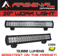 "#1 20"" Dual Row High Power 126w Cree Xb-d SMD Work Light Bar by Arsenal Offroad TM 13,000 Lumens Flood/Spot COMBO Beam"