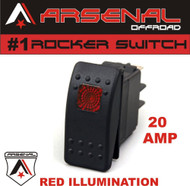 Arsenal Offroad 20 Amp Red Light Rocker Switch Kit 4X4 Jeep Polaris RZR Rapator Trucks RV UTV Powersports