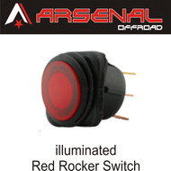 Arsenal Offroad 20 Amp Round Red LED Rocker Switch Kit 4X4 Jeep Polaris RZR Rapator Trucks RV UTV Powersports