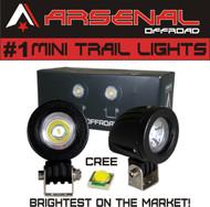 #1 Mini Trail Lights 2017 Design by Arsenal Offroad 20W CREE LED Spot Motorcycle Offroad Dual Sport Enduro Fog Trail Head Light for Xr DRZ EXC Dirt Bike Dual Sport KTM
