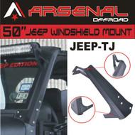 #1 JEEP TJ Arsenal 50-inch LED Light Bar Upper Windshield Mounting Brackets for Jeep: Wrangler TJ 4WD, Wrangler Unlimited TJ 4WD