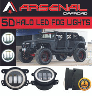 #1 4 Inch 60W Cree Led Fog Lights W/ White Halo Ring DRL for Jeep Wrangler 97-15 JK TJ LJ Off Road Fog Lamps