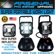 2018 Design Super Portable Rechargeable ARSENALTM LED Work Light for Car Inspection Repair Outdoor Lighting SUV Off-Road Trucks Boats Jeep RZR Tractor Garage, Camping Light